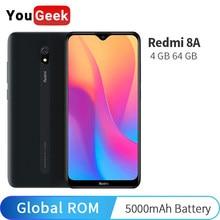 Глобальная прошивка Xiaomi Redmi 8A 8 4 Гб 64 Гб мобильный телефон Snapdragon 439 Octa Core 6,22 дюйма, разрешение Full Экран 5000 мА/ч, Батарея 12MP Камера