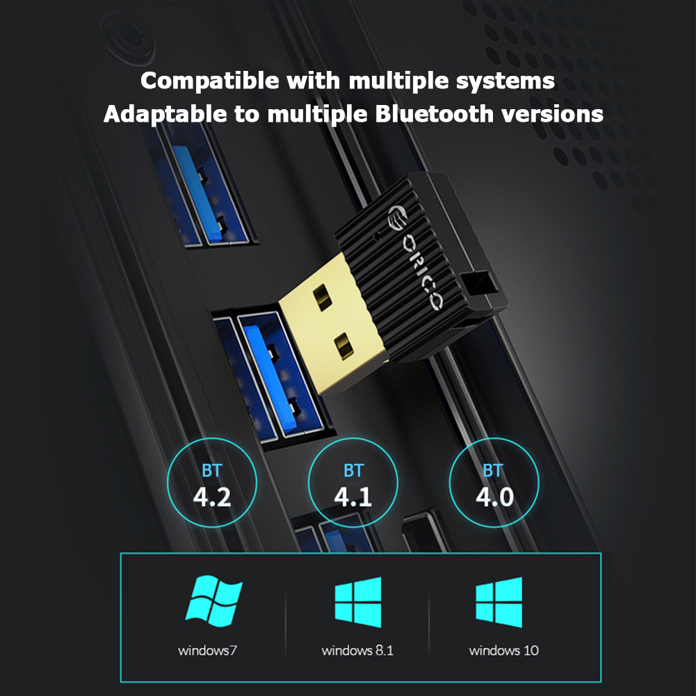 ORICO Mini USB Bluetooth 5.0 Adapter Computer PC Mouse Keyboard Speaker Music Wireless Bluetooth Dongle Receiver Transmitter 2