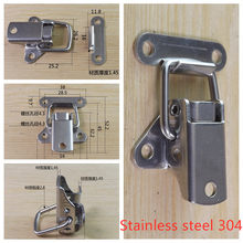 Stainless Steel 304 toolbox Locking Latch hasps Metal Toggle Catch Clasp box Loaded hinges Furniture Hardware Accessories
