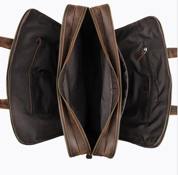 H25eecba1c2ce43d9882dc707cbdee3a93 MAHEU Vintage Leather Mens Briefcase With Pockets Cowhide Bag On Business Suitcase Crazy Horse Leather Laptop Bags 2019 Design