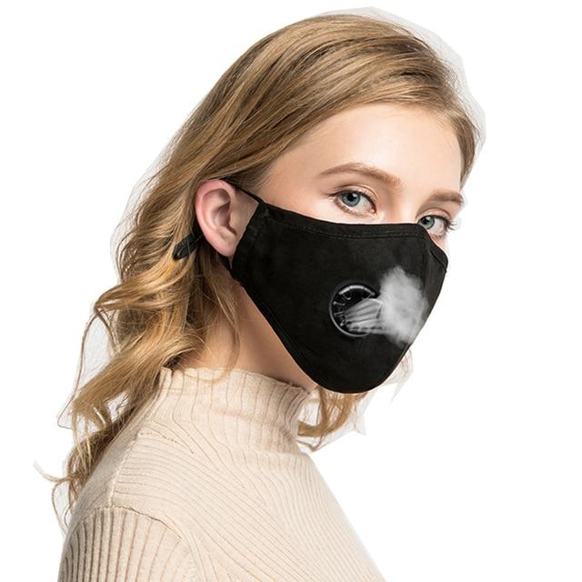 Reusable Washable Face Masks Washable 1 Mask + 10 Filter Mouth Mask Cotton Valve Respirator Men Women Mouth-muffle 2