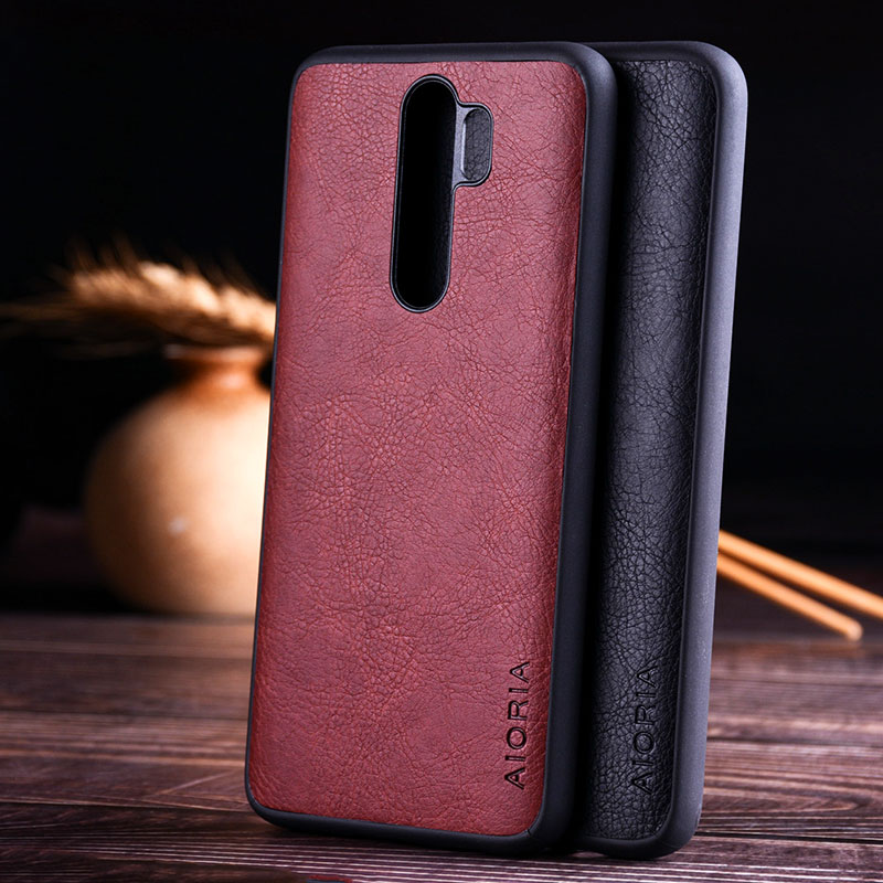 luxury Vintage Leather Skin Capa With Slot Phone Cover for Xiaomi Redmi note 8 case 3