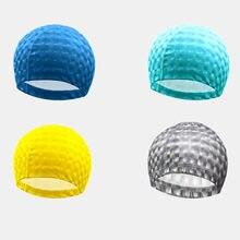 Новинка прочная шапочка для плавания Классическая тонкая текстурная