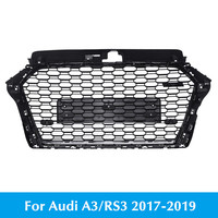 For Audi A3 RS3 2017 2018 2019 MODIFIED FRONT BUMPER MESH COVER GRILL For RS3 Racing GRILLE Hex Mesh Front Bumper Grill