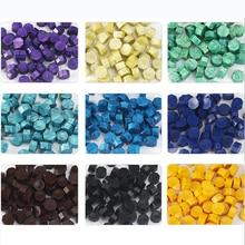 100 peças de vedação de cera de cor mate selo de cera octogonal pequenas partículas suprimentos de artesanato selo envelope convite de casamento selo de cera