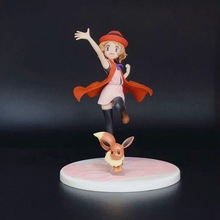 Takara  Japan Anime Serena Eevee Sylveon Nymphia Action Figure Model Toys Decoration POKEMON Statue 13CM