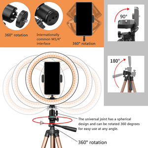 Image 4 - 10 Inch Selfie Ring Light with 50 Inch Tripod Stand & Phone Holder for Makeup Live Stream, LED Camera Ring Light with Remote Shu