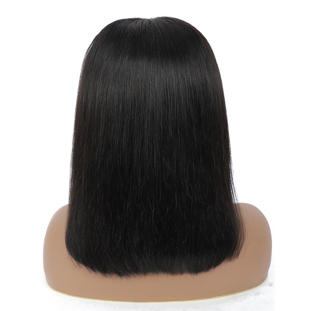 Natural Afro 13*4 Closure Nature Color Short Double Drawn  Black Women Virgin Hair Lace Hd Front  Wigs 3