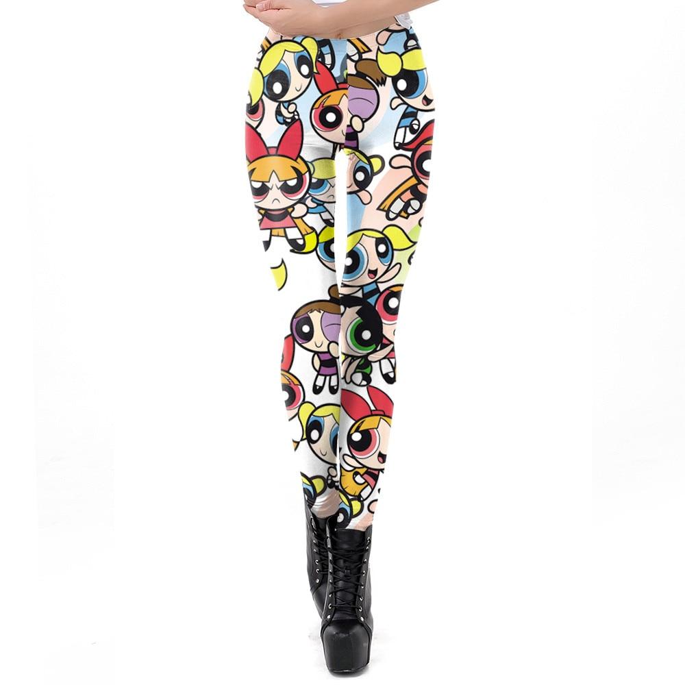 NADANBAO New Arrival Women Legging Cartoon Pattern 3D Printing Leggings Fitness Workout Leggin For Girl Plus Size Pants