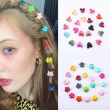 10/20/30/40/50PCS/ Lot Random Color Cute Children Girls Hairpins Small Plastic Hair Clip Clamp Barrettes Accessories