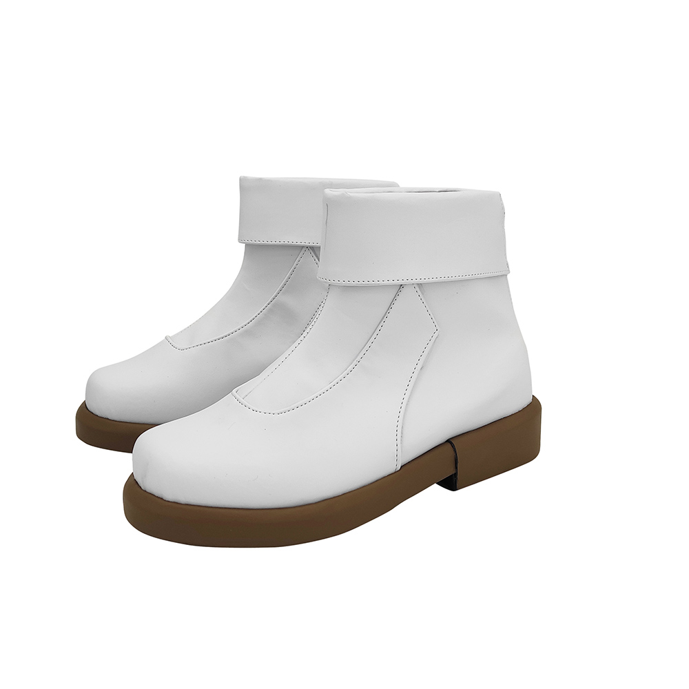 Anime Jujutsu Kaisen Toge Inumaki Cosplay Boots White Leather Shoes Custom Made Any Size (2)