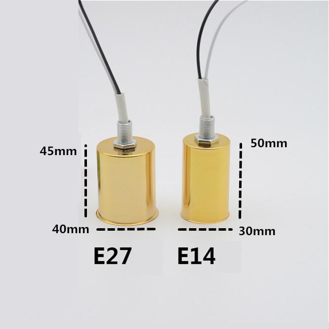 E14 Screw Bulb Base Cap Hang Pendant Lamp Holder Socket Ceramic with Wire