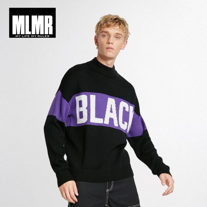 JackJones Men's Woolen Letter Woven Sweater Streetwear Oversized Pullover Top Menswear 218425522