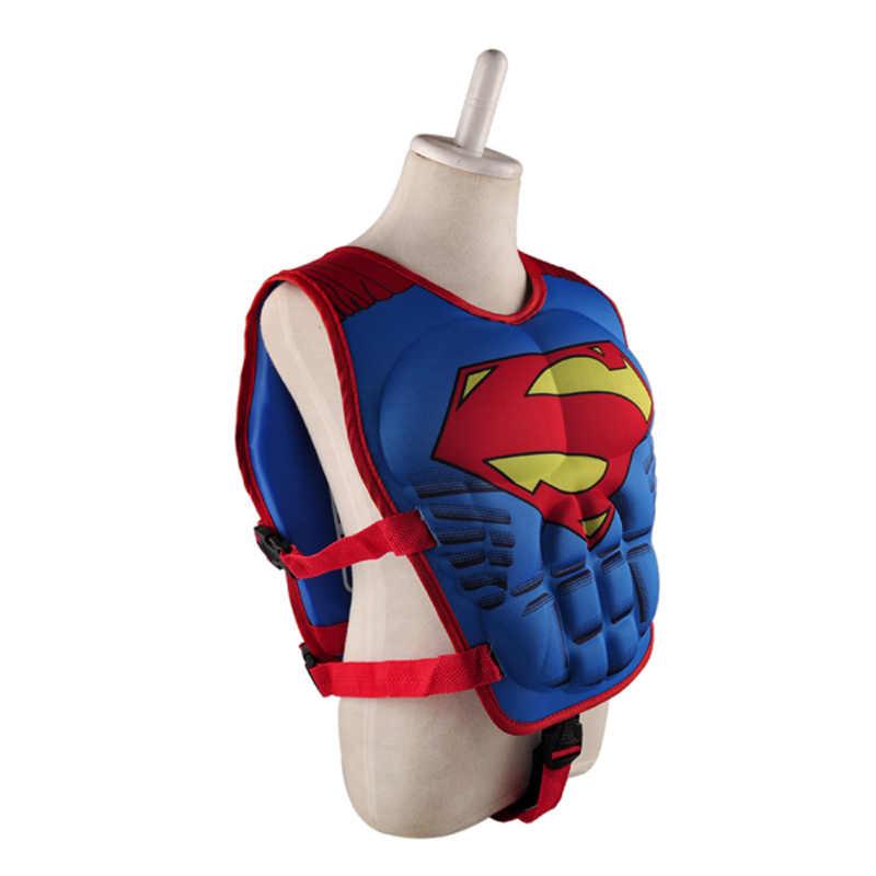 Crianças Colete Salva-vidas Colete Superman batman spiderman natação do bebê das meninas dos meninos de super-heróis de pesca piscina círculo piscina acessórios anel