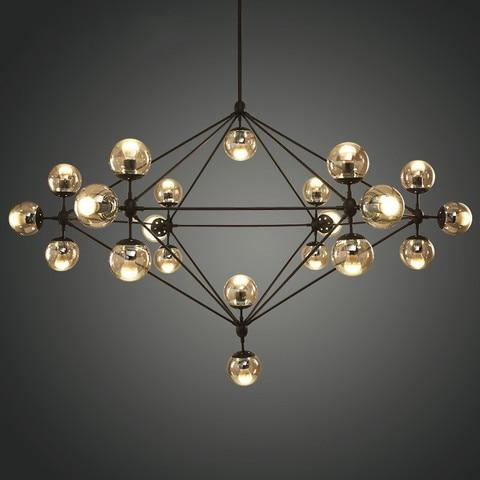 design italiano globo lustre de iluminacao sala