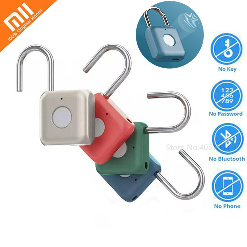 Xiaomi Smart Electronic Fingerprint Lock Padlock Fingerprint Unlock USB Charging Smart Home Travel Office Safe Security Padlock