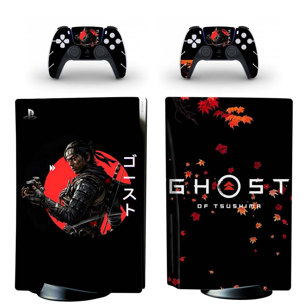 Ghost of Tsushima PS5 Standard Disc Edition Skin Sticker Decal for PlayStation 5 Console & Controller PS5 Skin Sticker Vinyl 1