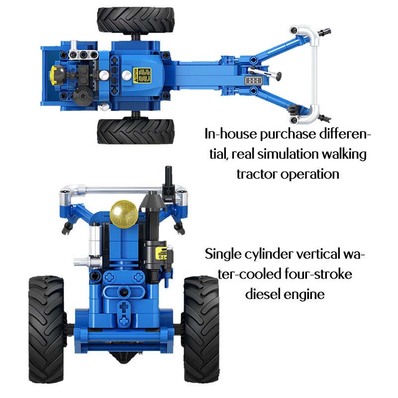 City Classic Old Tractor Car Building Block For High-tech DIY Walking Tractor Truck Brick Educational Toys for Children High Tech Toys cb5feb1b7314637725a2e7: no original box(A)|no original box(B)