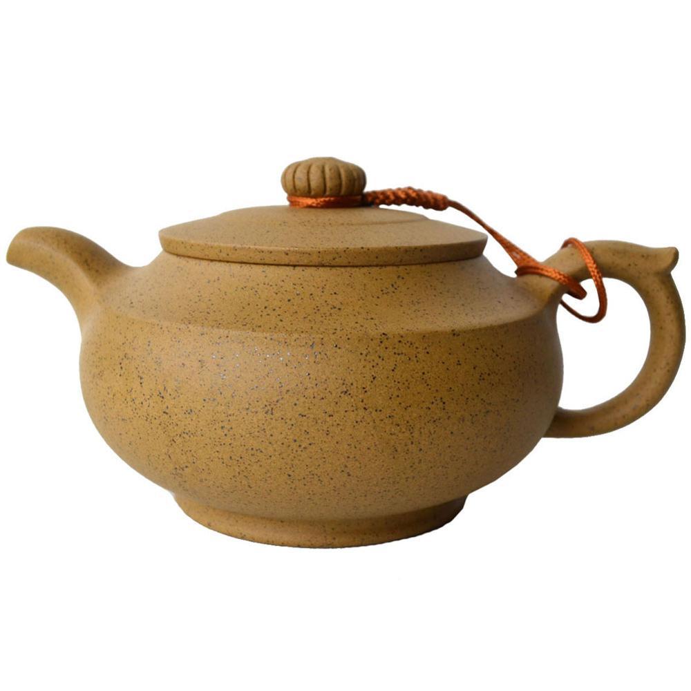 yixing zisha teapot 330ml chinese purple clay pot sesame hanbian traditional kungfu tea set handmade Pottery kettle Soak puer|Teapots| |  - title=
