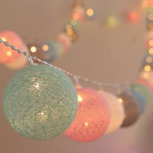 Garland-Lights Decorations String Baby Bed Xmas Wedding-Party Holiday Christmas 20-Led-Cotton-Ball