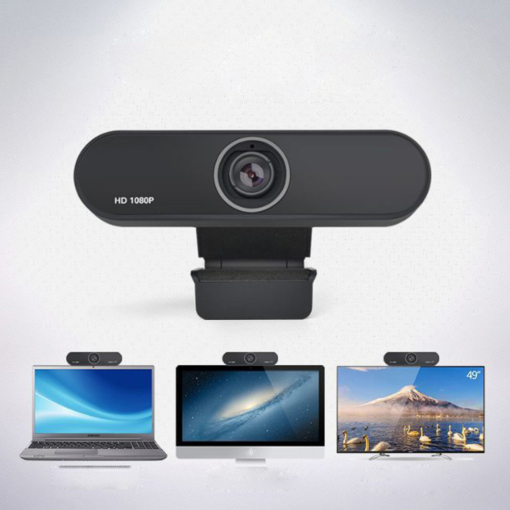 1080P USB Webcam in Clip-on Design with Built-in Noise Isolating Microphone 2