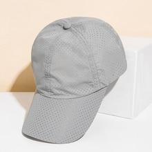 BISONJS 2020 монохромный лето унисекс регулируемый бейсбольная кепка полые дизайн крышки snapback быстросохнущие воздухопроницаемой сеткой шляпы