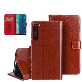 Перейти на Алиэкспресс и купить Чехол-книжка для Motorola Edge, деловой кожаный чехол для телефона Motorola Edge + Plus, защитный чехол для телефона