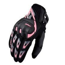 Suomy luvas de motociclismo para homem e mulher, luvas respiráveis de verão em rosa para motociclismo, motocross, corrida e cavalgar