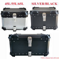 Caja superior trasera Universal para motocicleta, caja de herramientas de almacenamiento para casco de equipaje, para pcx125 pcx 150 nmax xmax nvx click, 45L 55L 65L