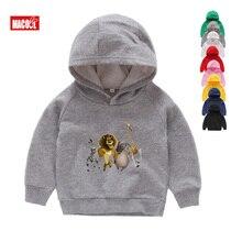Hot 2019 Madagascar Lion winter prints Hoodies Sweatshirts childrens favorite cartoon funny Long sleeves 2T-8T