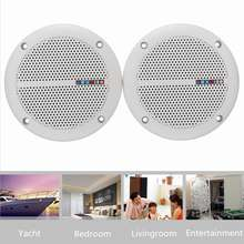 1Pair 25W Home Office Ceiling Wall Speakers Waterproof Loudspeaker Home Theater Bathroom Marine Boat Water Resistant Speakers(China)