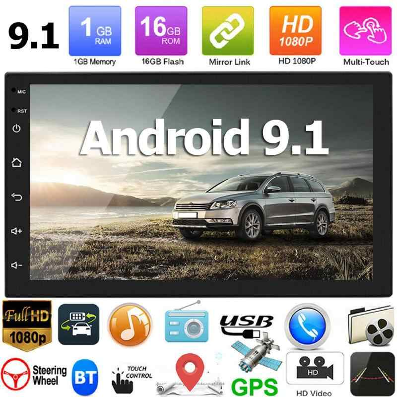 7168 Upgrade 2 DIN Android 9.1 GPS Auto Central Multimedia Player Double Din Radio Wifi 2Din Autoradio Mobil FM USB kepala Unit