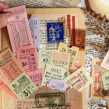 40 pçs/set Antigo Coleção Adesivos Decorativos Diário Álbum de Scrapbooking Etiqueta Vara Papelaria Selo Retro Bill Ticket Etiqueta