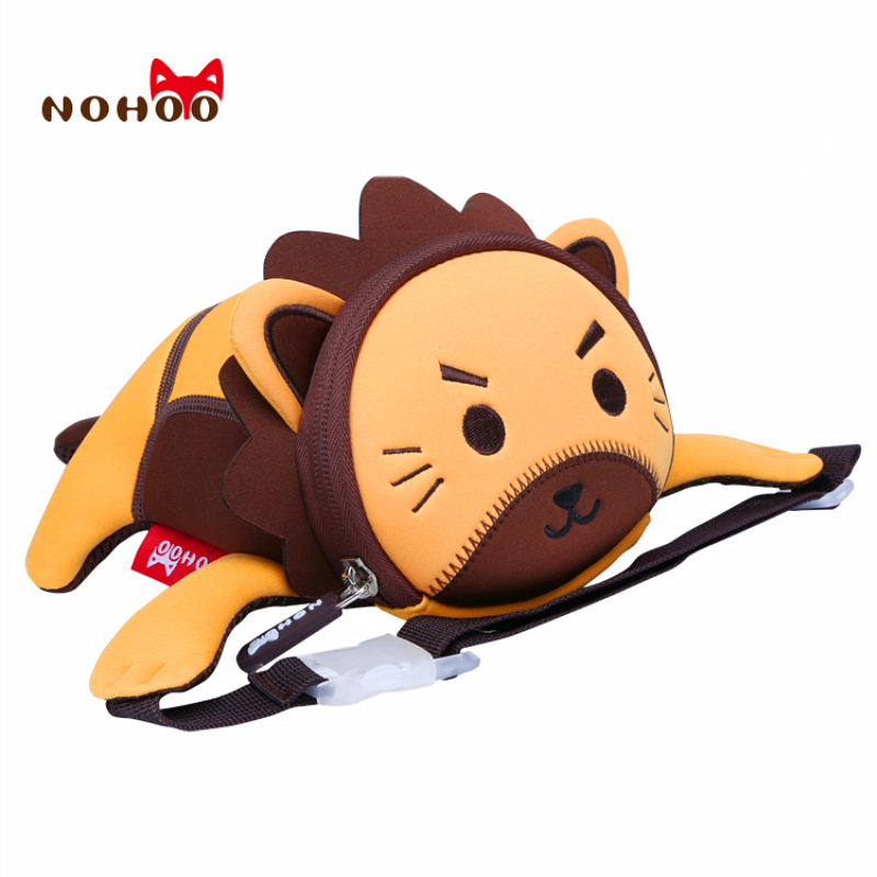 Fanny Pack Kids NOHOO 3D Cartoon Waist Packs Lion Travel Kids Mini Purse High Quality Waterproof Bag Adjustable Belt Bag Heuptas