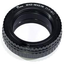Pixco M42 に M42 レンズアジャスタブルフォーカシングヘリコイドマクロチューブアダプタ 17 ミリメートル 31 ミリメートル