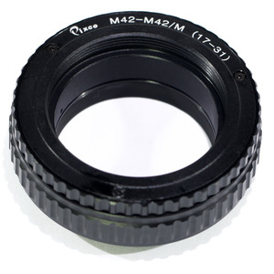 Image 1 - Pixco M42 כדי M42 עדשה מתכווננת התמקדות Helicoid מאקרו צינור מתאם 17mm כדי 31mm