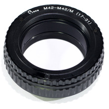 Pixco M42 Om M42 Lens Verstelbare Scherpstellen Helicoid Macro Tube Adapter 17 Mm Tot 31 Mm