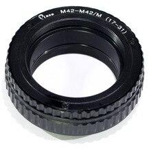Pixco M42 do M42 regulowane ogniskowanie obiektywu Helicoid Adapter do makrofotografii od 17mm do 31mm