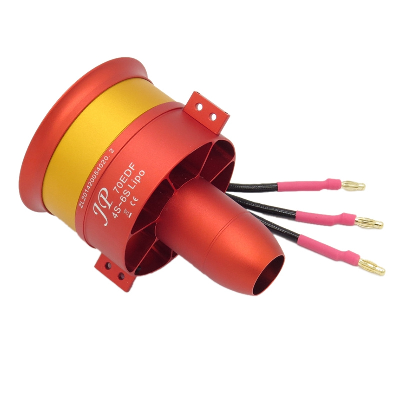 HGLTECH 70Mm 3055 2250KV Duct Fan Unit with Brushless Outrunner Motor for RC EDF Jet AirPlane image