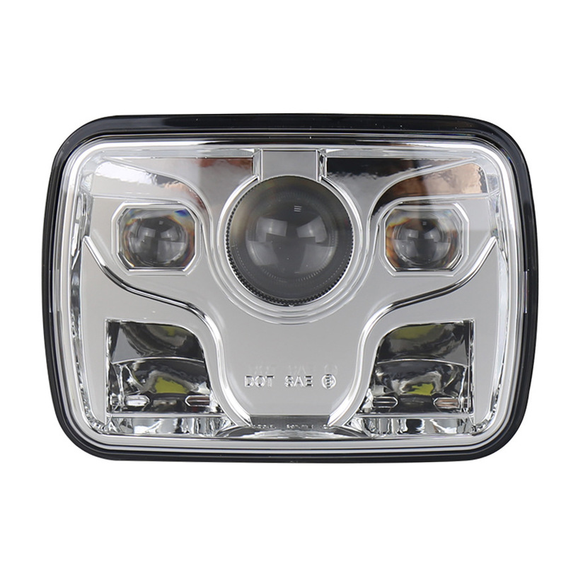 Is Refitted For The Levida Automobile And Motorcycle, And The Square 60W Jeep Herdsman's 5x7 Inch Headlamp Is Refitted