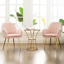 Скандинавский Железный роскошный стул для столовой, стул для макияжа, кофейный чайный стул с подушкой, домашний кабинет, спальня, кресло для гостиной