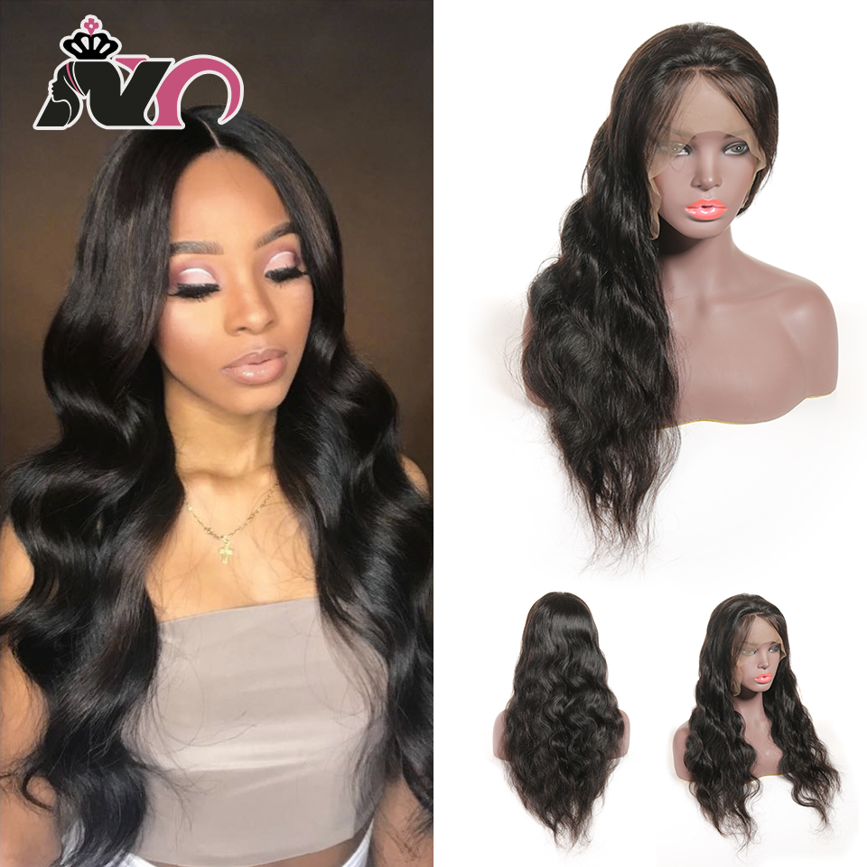 NY Hair 13*4 Lace Front 100% Human Hair Wigs Indian Body Pre Plucked Baby Hair 8- 28 Inch Non Remy Hair Lace Frontal Wigs