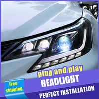 2PCS Auto Stil LED scheinwerfer für Toyota Mark X 2013-2017 für Reiz kopf lampe LED DRL Objektiv doppel Strahl H7 HID-Xenon-bi xenon