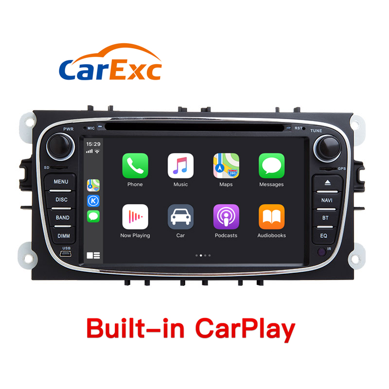 Android 9.0 GPS Navigation System Mit CarPlay Für Ford Focus 2 S/C-Max Mondeo 4 Galaxy Kuga 2008 -2010 auto Multimedia-Player