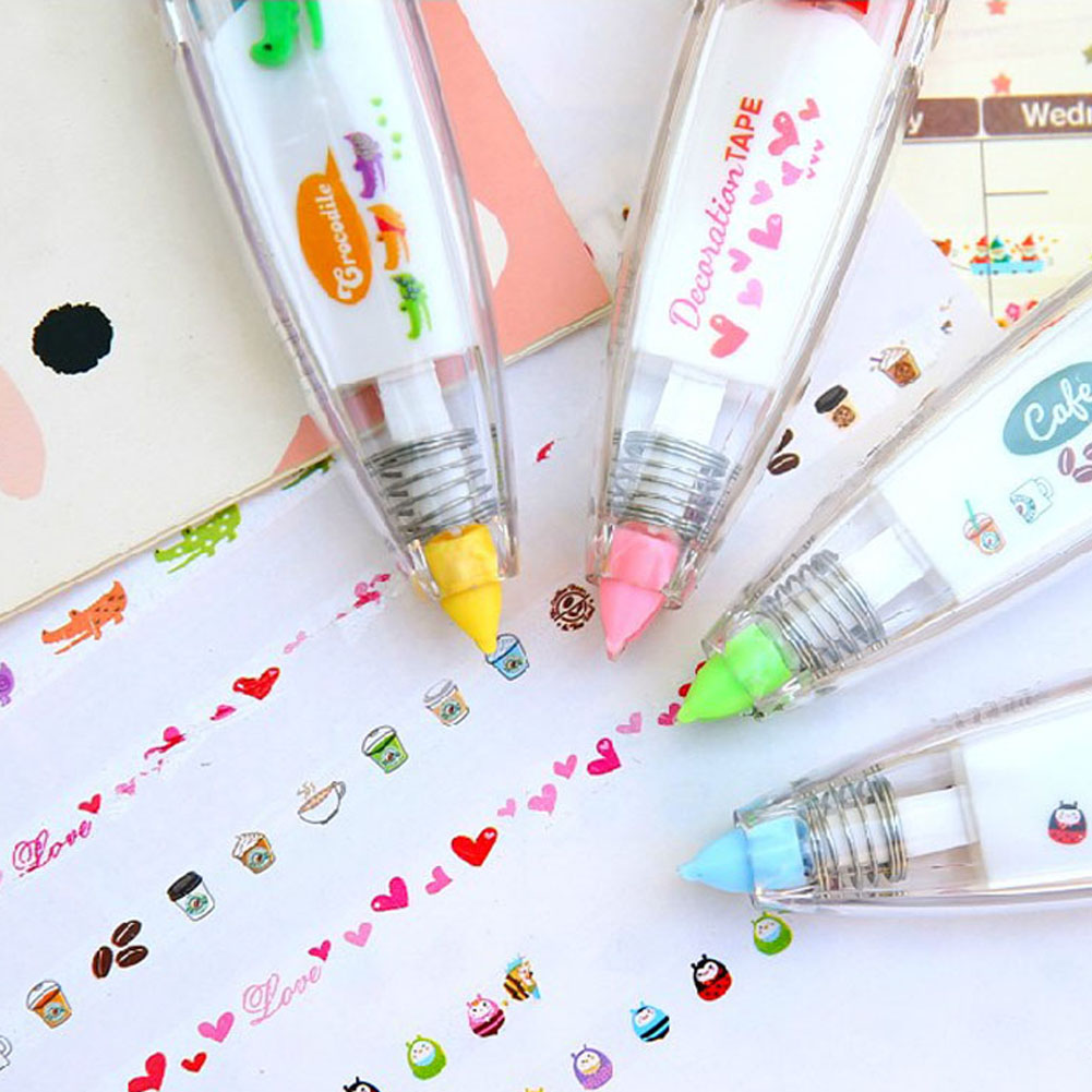 1pcs Korea Stationery Cute Push Type Modified With Lovely Lace Tape Correction Tape School Stationery Decoration