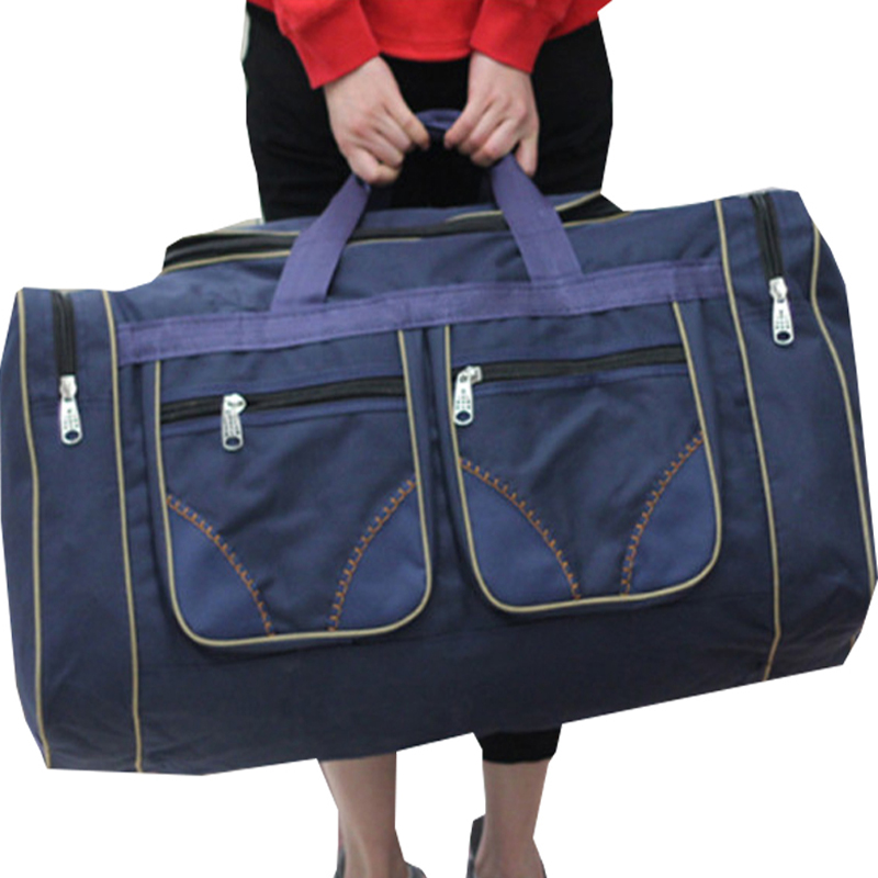 80L Large Capacity Waterproof Luggage Big Travel Bag Men Women Waterproof Shoulder Oxford Cloth Travel Duffle Weekend Bags