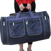 Bolsa de viagem grande 80l, mala de viagem impermeável para homens e mulheres, bolsa de ombro, pano oxford, viagem, duffle, fim de semana