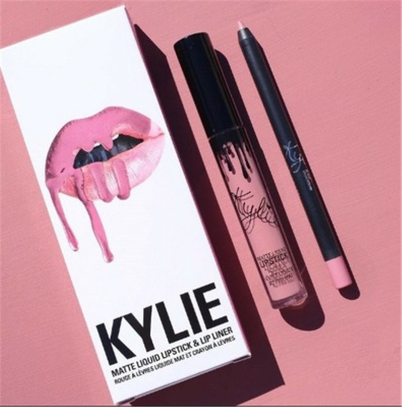 2020 Hot New KYLIE Matte Lipstick+lips Pencil Makeup Lasting Waterproof Liquid Lip Gloss Kilie Lipstick Kyliejenner Lip