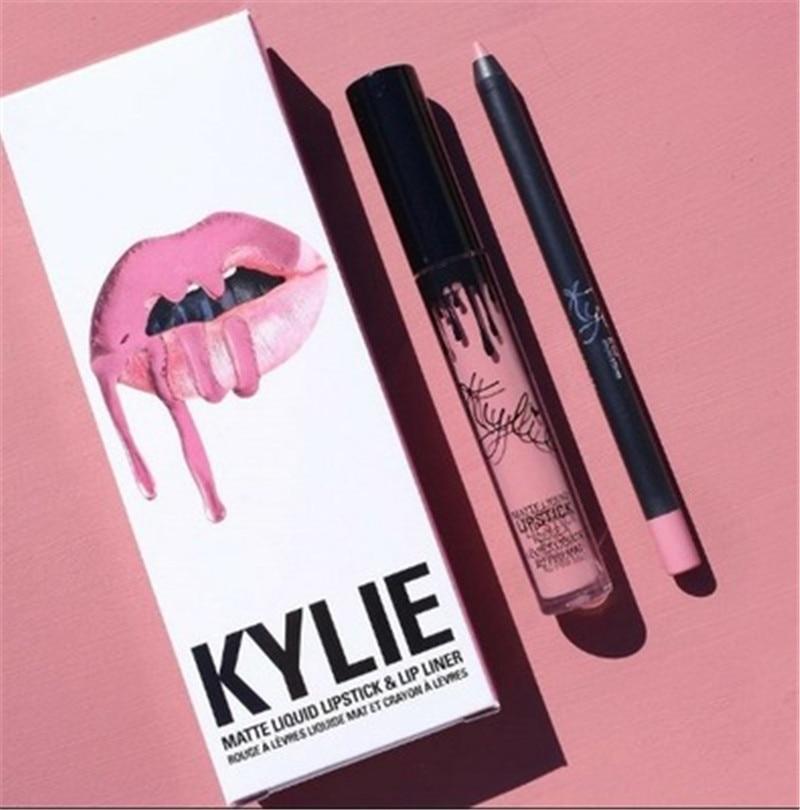 2020 Hot New KYLIE Matte Lipstick+lips Pencil Makeup Lasting Waterproof Liquid Lip Gloss Kilie Lipstick Kyliejenner Lip