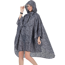 2019 new 3 patterns high quality waterproof polyester women rain coat cape hooded for ladies men hiking bicycle poncho